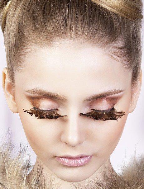 Ресницы перьевые Baci Чеграва – коричневый