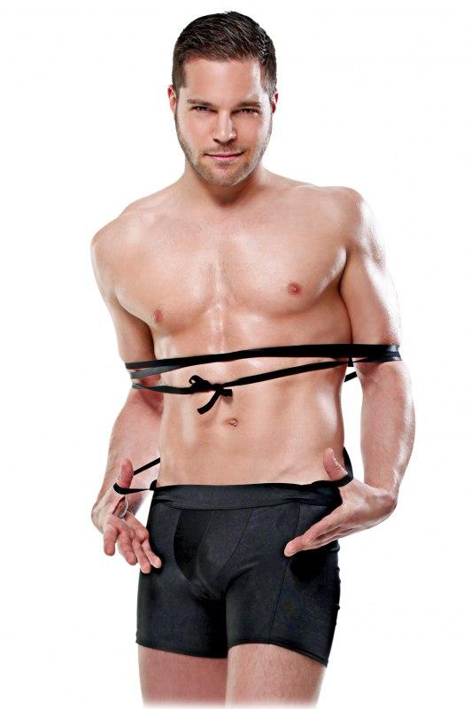 Трусы-боксеры с веревками для бондажа Tie Me Up от Он и Она