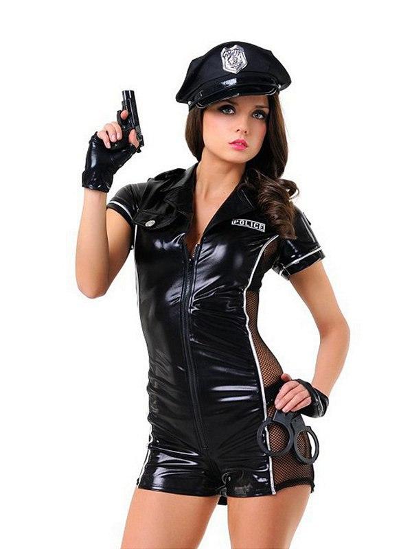 Игровой костюм Le Frivole Эротический Полицейский – черный, S/M