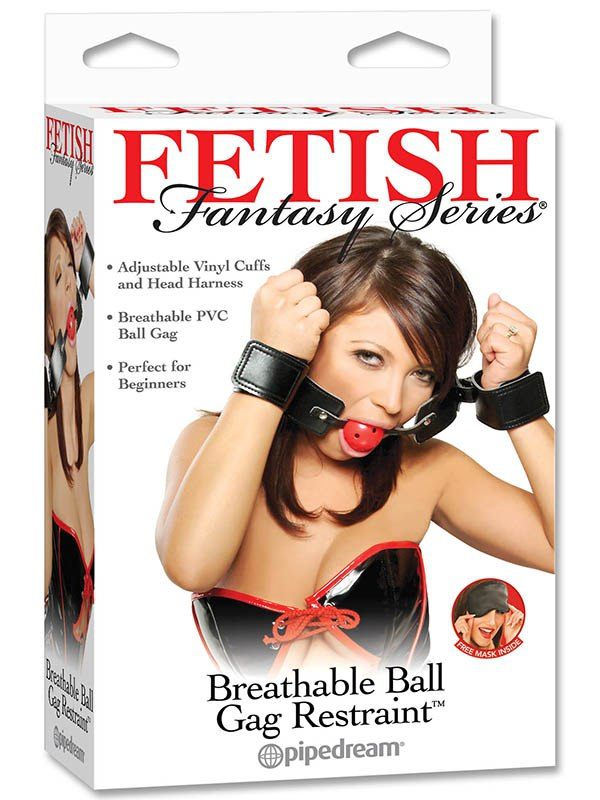 Кляп с ограничителями Breathable Ball Gag Restraint (Pipedream, США)