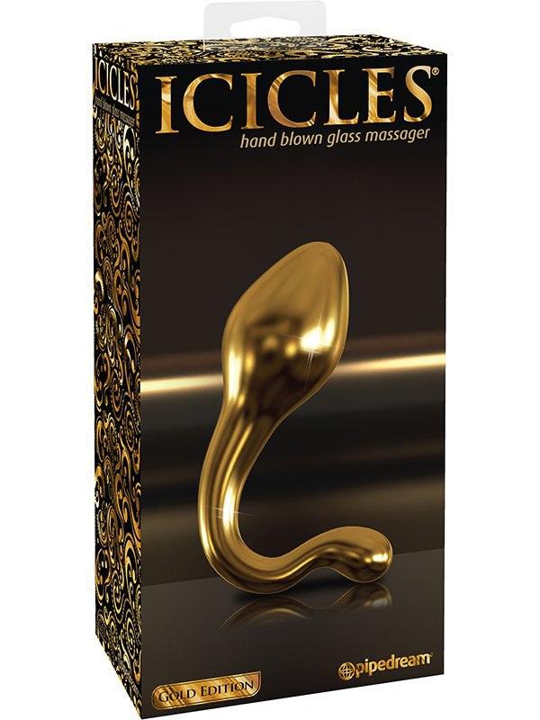 Pipedream Анальный стимулятор Icicles Gold Edition G11  золотой