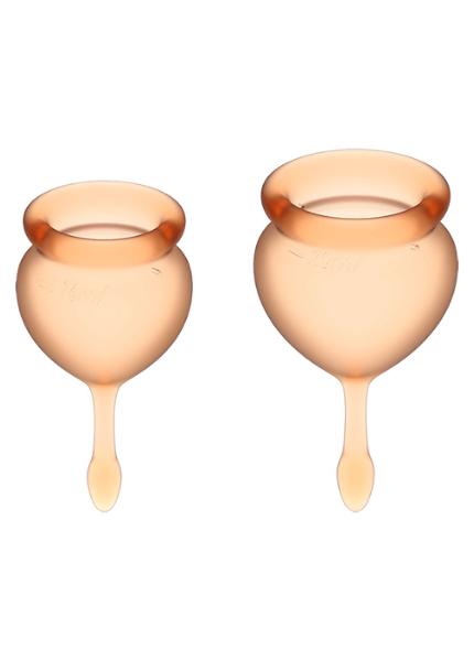 Набор менструальных чаш Satisfyer Feel good Menstrual Cup (orange)