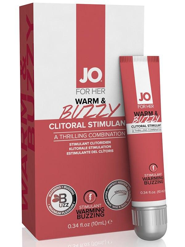 Клиторальный стимулирующий крем JO Warm & Buzzy – 10 мл