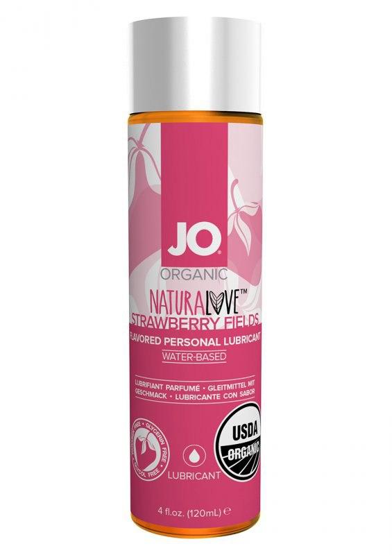 Натуральный лубрикант на водной основе JO Naturelove USDA Organic с ароматом клубники – 120 мл