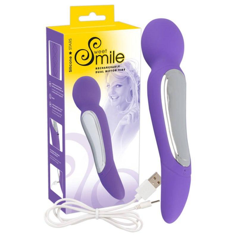 Вибромассажер Smile Dual Motor Vibe - фиолетовый