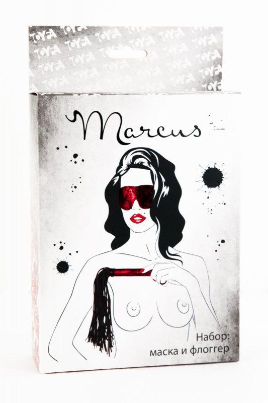 Кружевной набор маска и флоггер TOYFA Marcus – красный