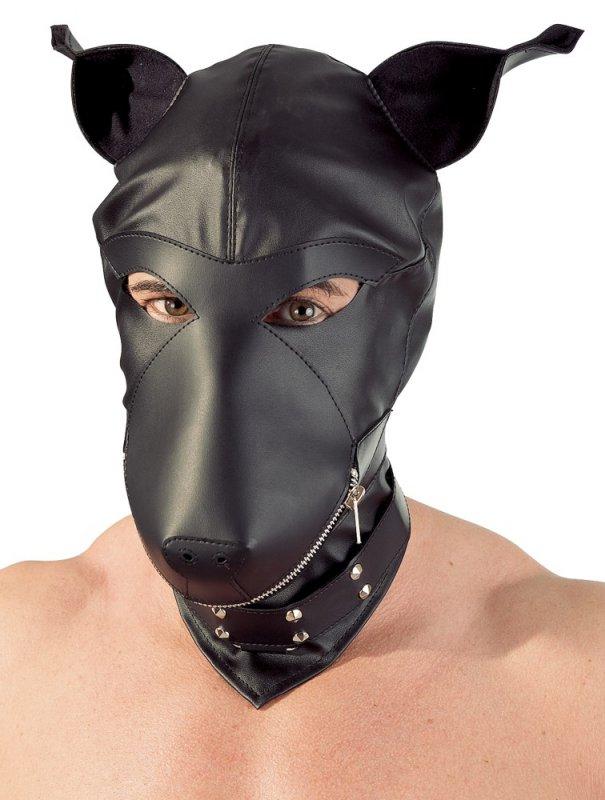 цена на Шлем-маска собака Fetish Сollection Dog - черный
