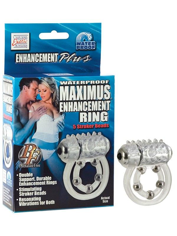Эрекционное виброкольцо Maximus Enhancing Ring 5 Stroke Beads эрекционное виброкольцо bathmate vibe ring eight