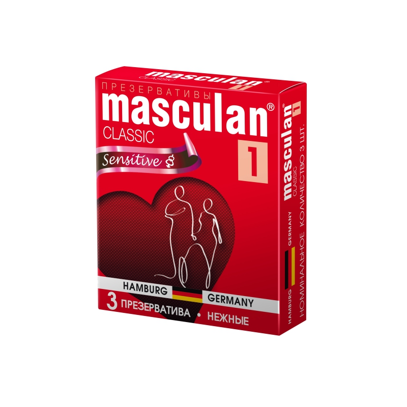 Презервативы Masculan 1 Classic нежные 3 шт