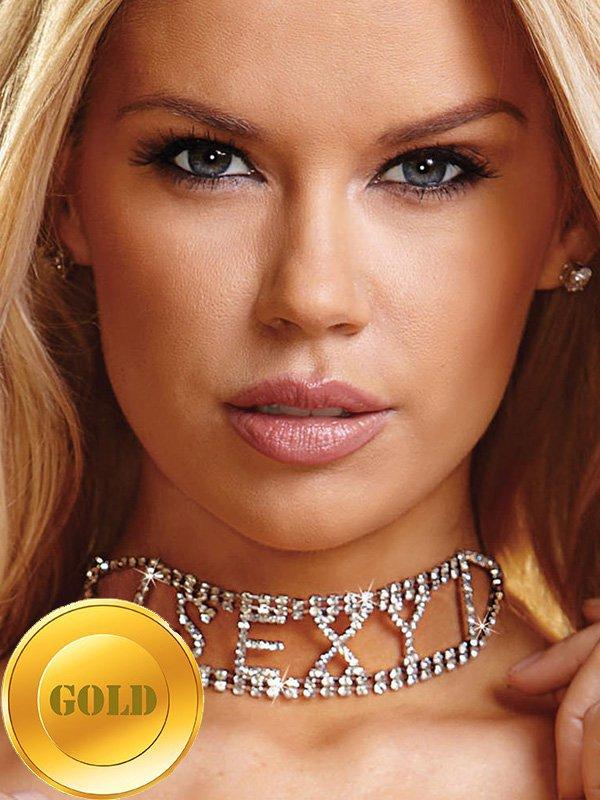 Ожерелье из кристаллов Ann Devine - Sexy Rhinestone Choker – золотой