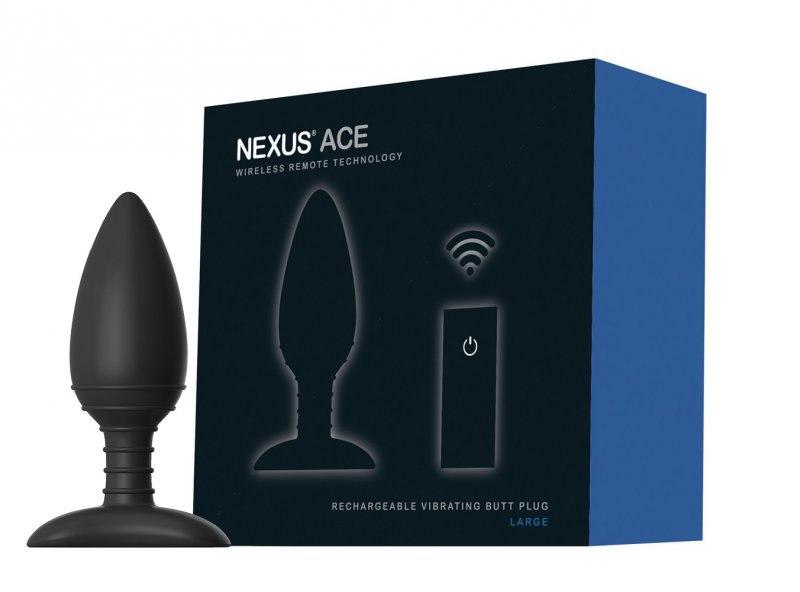Перезаряжаемая анальная вибровтулка Nexus Ace Large - черный