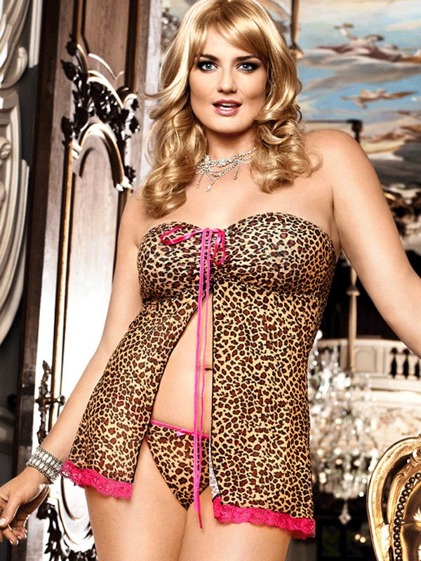 Сорочка в стиле бэбидолл The Animal Inside - Queen Size от Он и Она