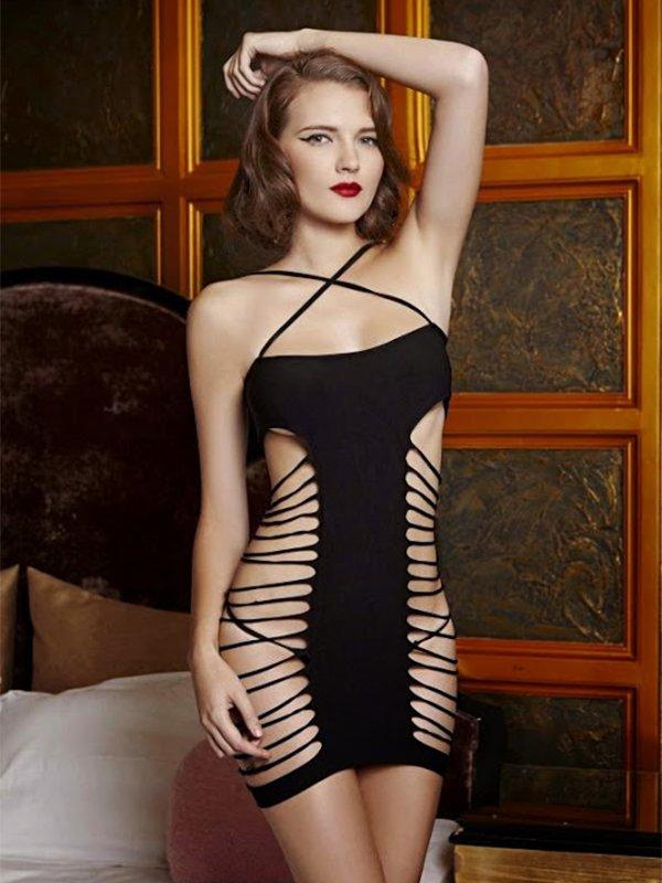 Платье с вырезами по бокам (Temptlife) – черный