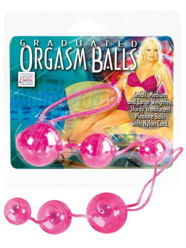 Три вагинальных шарика Graduated Orgasm Balls  розовый