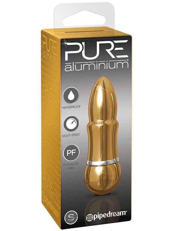 Вибромассажер Pure Aluminium Small Gold  золотистый (Pipedream, США)
