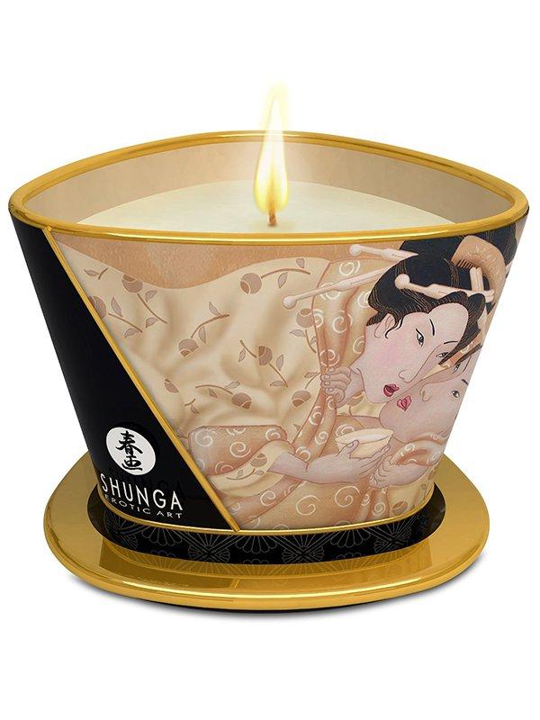 Массажное арома масло в виде свечи Vanilla Fetish Ванильный Фетиш  170 мл (Shunga Erotic Art, Канада)