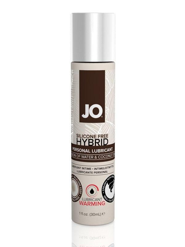 Согревающий лубрикант JO Silicone-Free Hybrid Warming с маслом кокоса  30 мл