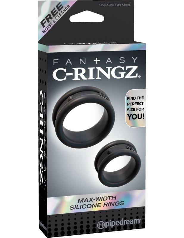 Набор из 2-х эрекционных колец Max Width Silicone Rings – черный
