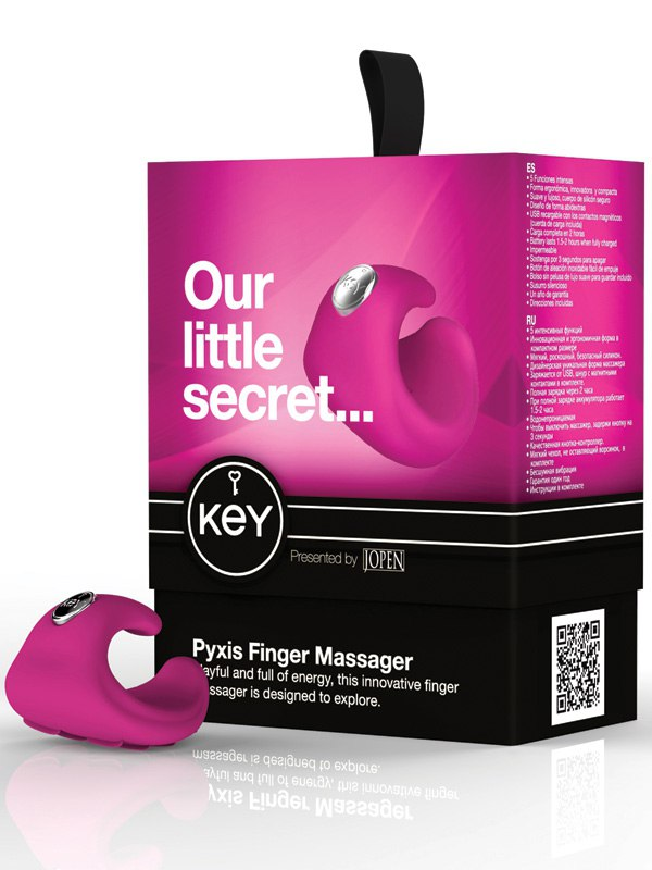 Водонепроницаемый вибромассажер на палец Pyxis - Pink от Он и Она