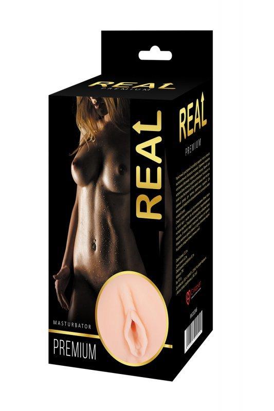 Реалистичный односторонний мастурбатор Real Women Dual Layer с двойной структурой 15.5 см.