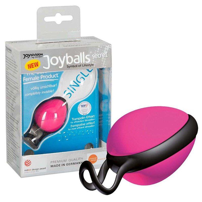 Вагинальный шарик Joyballs Secret со смещенным центром тяжести – розовый вагинальный шарик joyballs trend со смещенным центром тяжести – фиолетовый