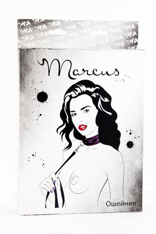 Кружевной ошейник TOYFA Marcus – пурпурный