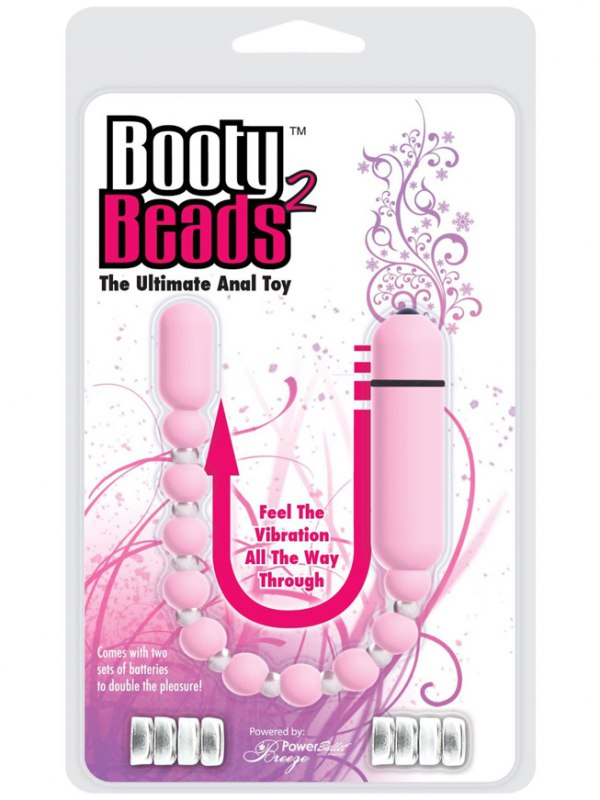 Анальная вибро-цепочка BMS Booty Beads – розовая
