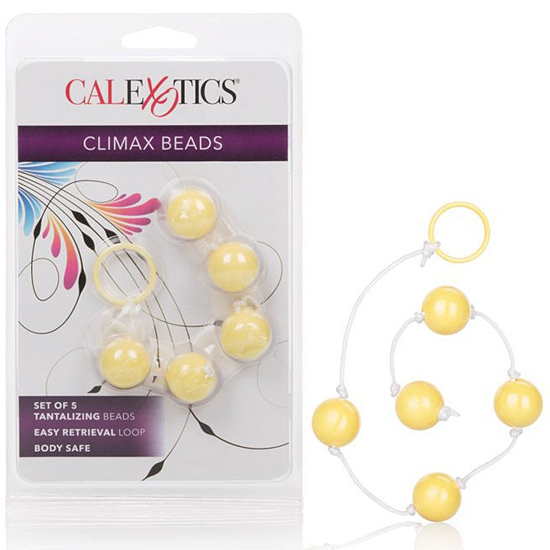 Анальные шарики Climax Beads – желтый