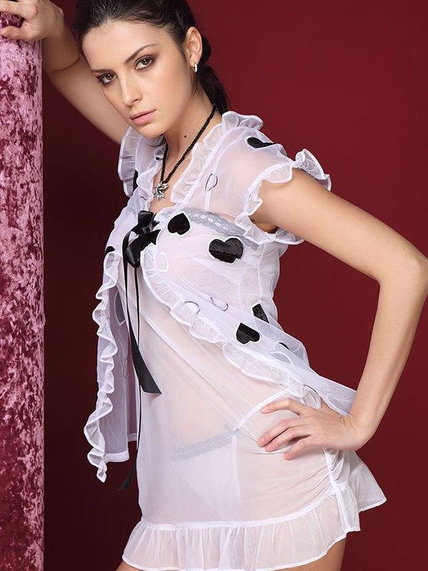 Сексуальное розовое кимоно и стринги Sweetheart 788 - S/M