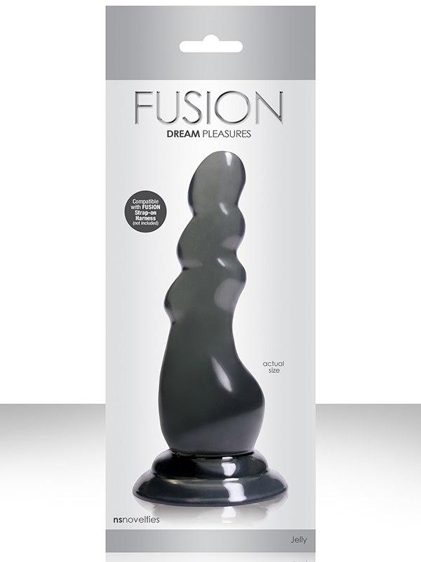 Елочка-насадка Fusion Pleasure Dongs к страпону – серая
