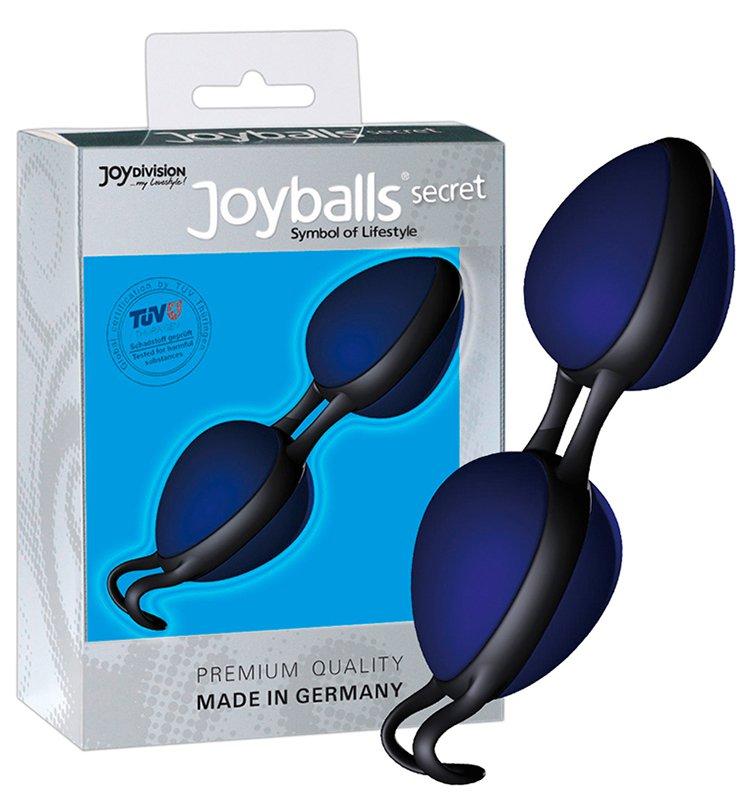 Вагинальные шарики Joyballs Secret со смещенным центром тяжести – синий