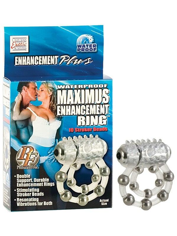 Эрекционное виброкольцо Maximus Enhancing Ring 10 Stroke Beads