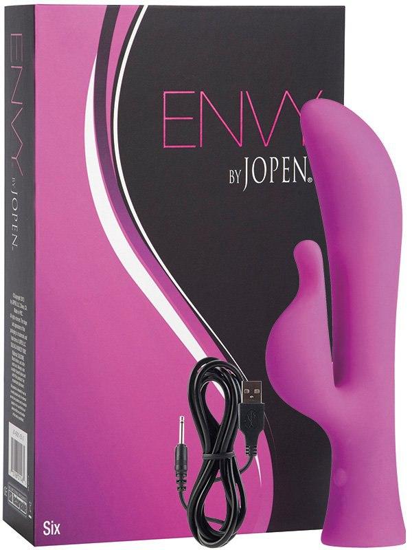 Вибромассажер G-точки Envy Six со стимулятором клитора  розовый