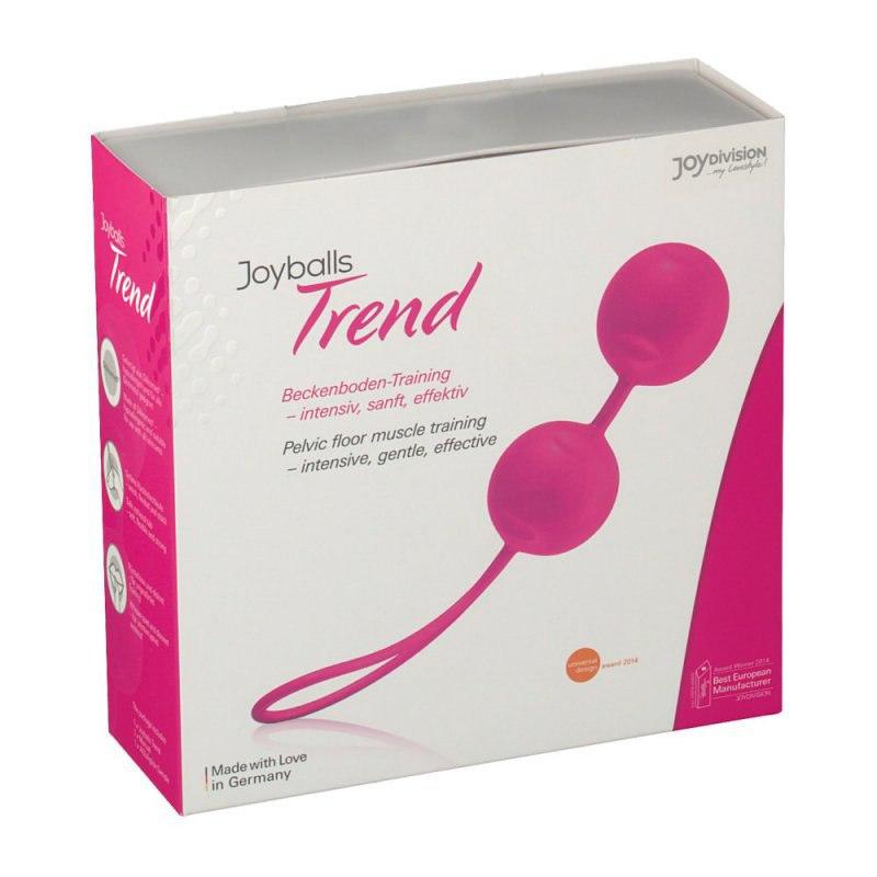 Вагинальные шарики Joyballs Trend со смещенным центром тяжести – ярко розовый вагинальный шарик joyballs trend со смещенным центром тяжести – фиолетовый