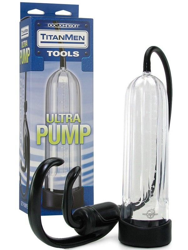 Вакуумная помпа Ultra Pump - прозрачная pipedream pump worx fanta flesh pussy pump вакуумная помпа с мастурбатором