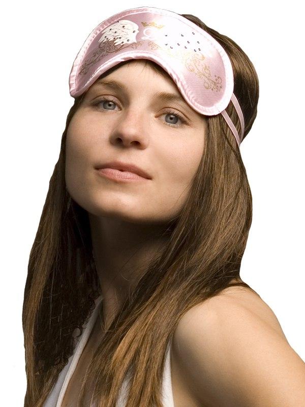Маска на глаза Swarovski Ангельская розовая корона от Он и Она