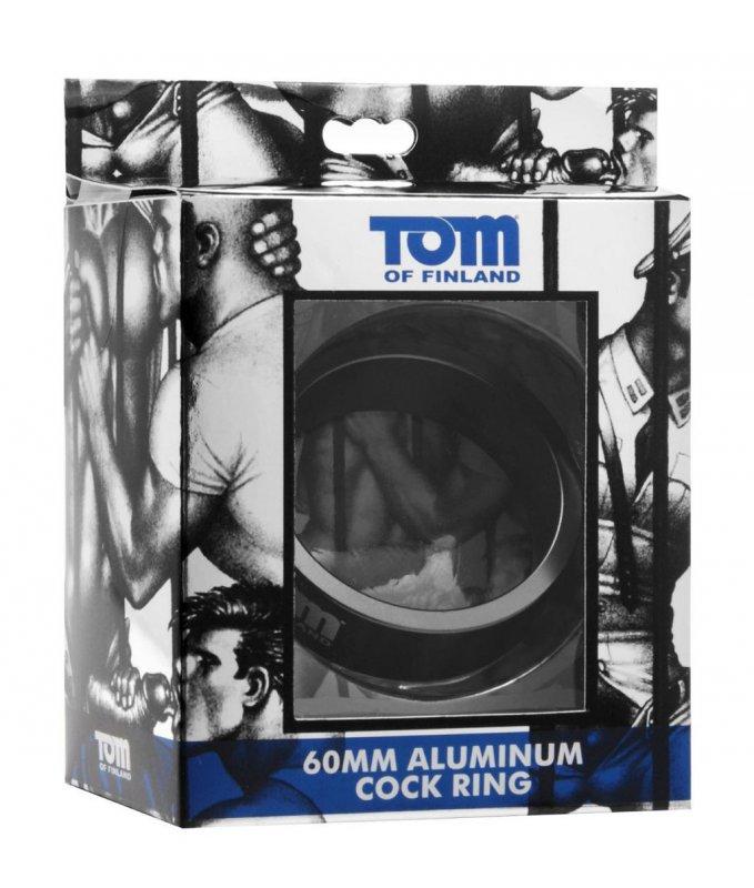 Эрекционное кольцо из металла Tom of Finland 60mm Aluminum Cock Ring – серебристый