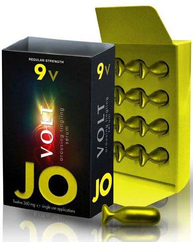 Возбуждающая сыворотка сильного действия JO Volt 9v - 12 капсул