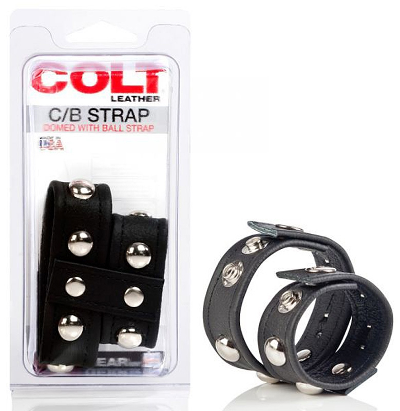 Двойная утяжка на пенис Colt C/B Strap Domed With Ball – черный