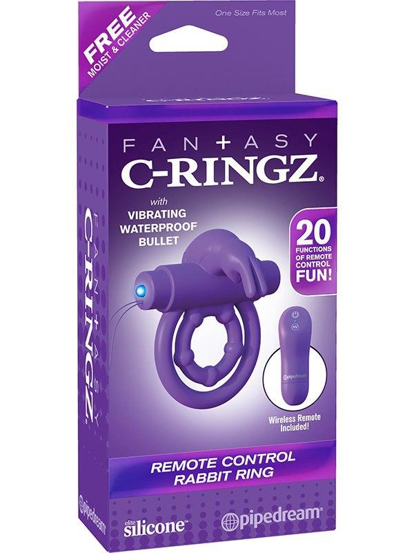 Эрекционное виброкольцо Remote Control Rabbit Ring многофункциональное – фиолетовый
