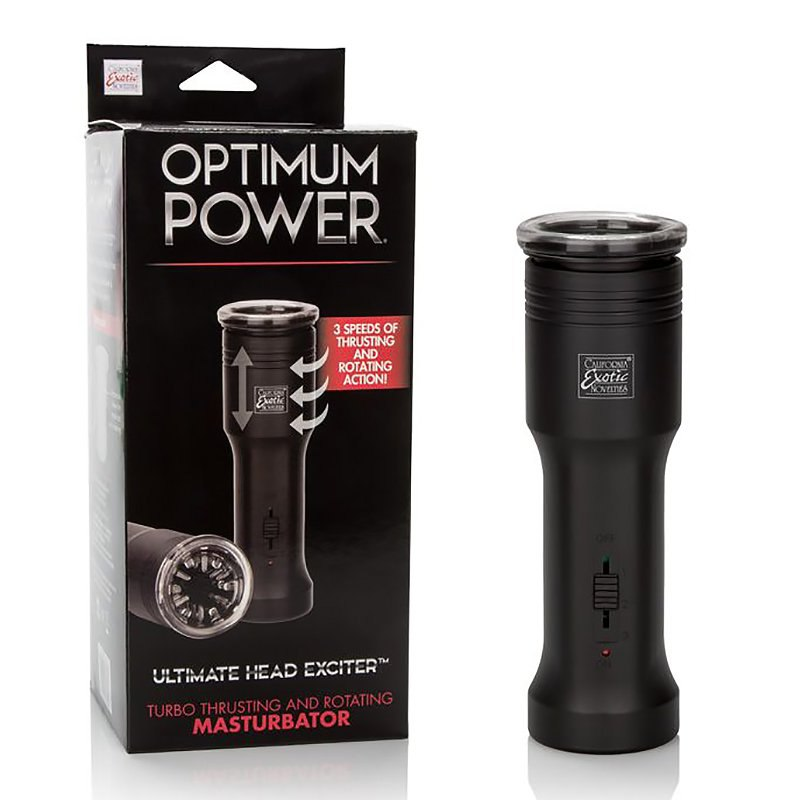 Мастурбатор Optimum Power Ultimate Head Exciter с ротацией и поступательными движениями – черный