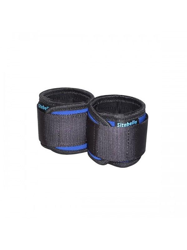 Сшитые неопреновые наручники Sitabella на липучках – синий