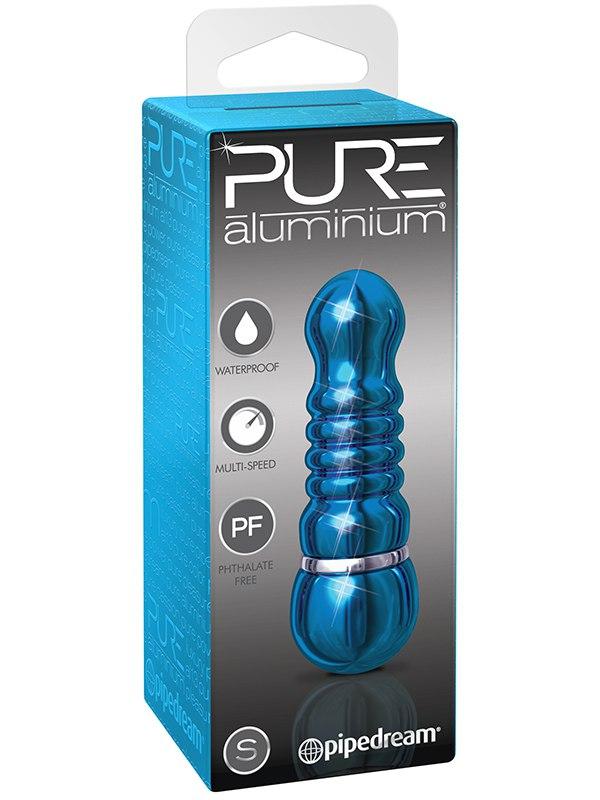 Вибромассажер Pure Aluminium Small Blue – синий