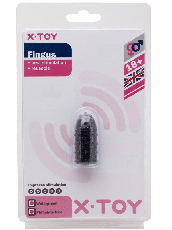 Водонепроницаемый вибростимулятор на палец Fingus - Black от Он и Она