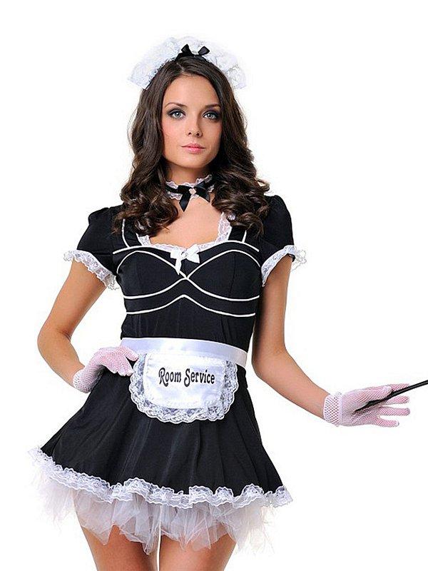 Игровой костюм Le Frivole Старательная Служанка  черный с белым, L/XL