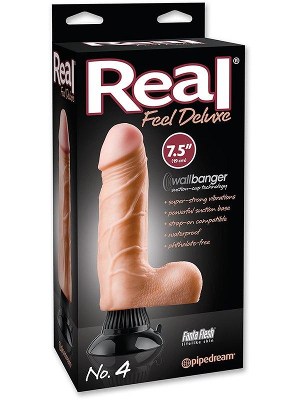 Вибромассажер с мошонкой Real Feel Deluxe №4  7,5 телесный (Pipedream, США)
