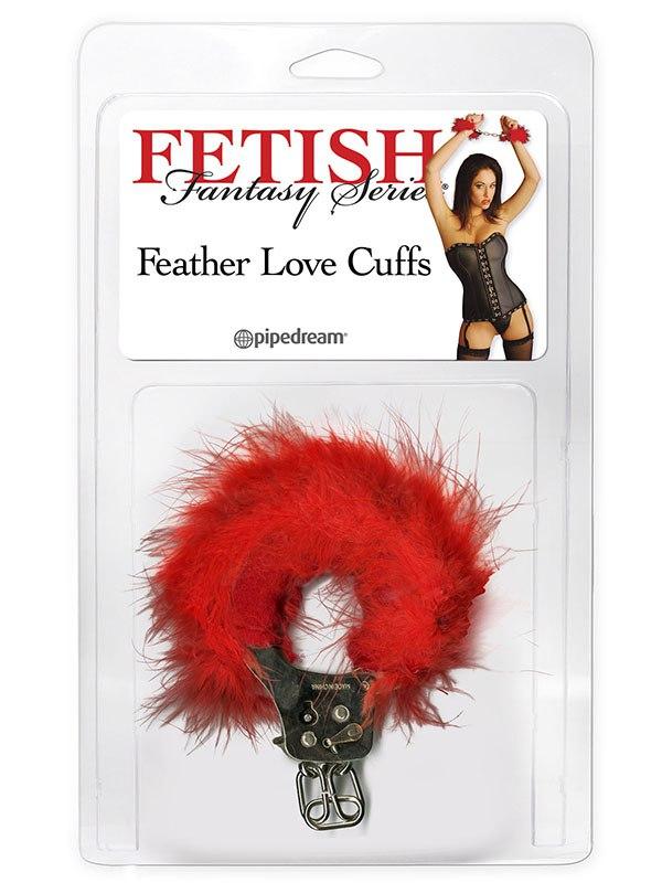 Наручники Feather Love Cuffs – красные (Pipedream, США)