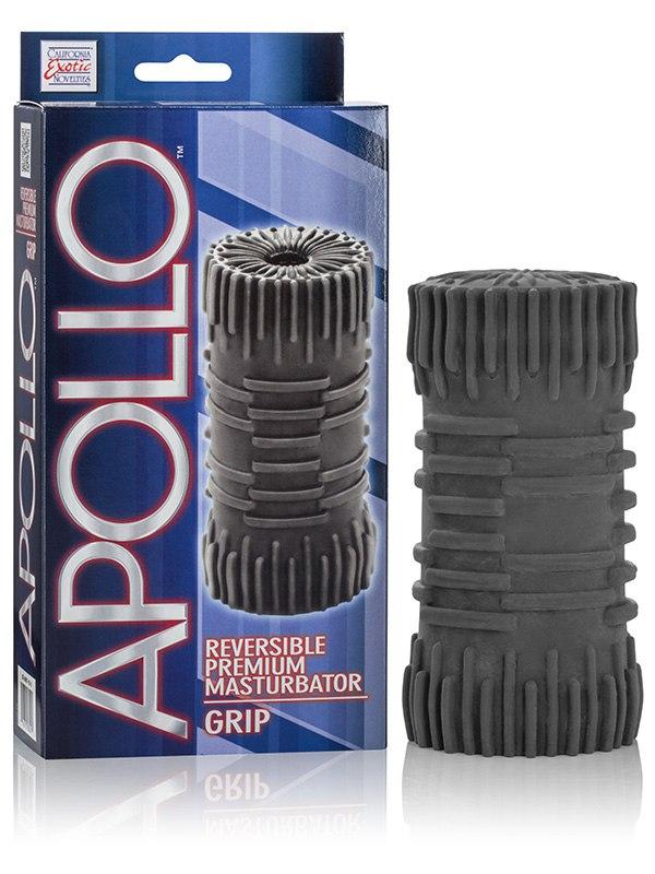 Мастурбатор Apollo Reversible Premium Masturbator Grip двусторонний – серый