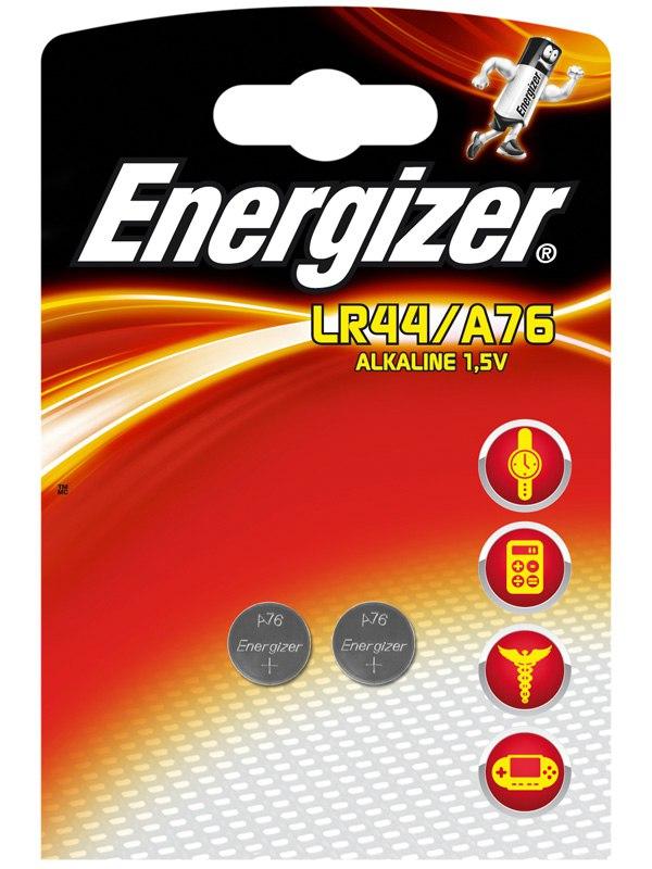 Батарейки таблетка Energizer Alkaline LR44/A76 - 2 шт.