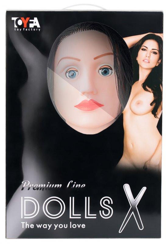 Реалистичная надувная секс-кукла TOYFA Dolls-X Kaylee с вибрацией - телесный